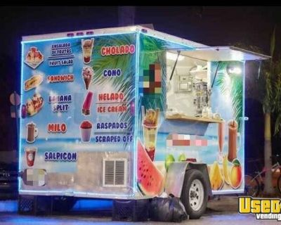 Licensed 2017 - 6' x 10' Shaved Ice and Beverage Concession Trailer
