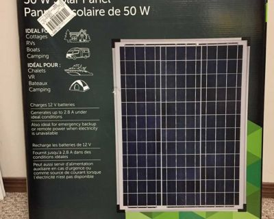 NOMA 50W Crystalline Solar Panel & Charge Controller