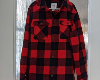 New! Giftable Cat and Jack thick fleece plaid button down