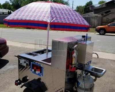 Well-Maintained Garage-Kept Hot Dog Food Vending Concession Cart