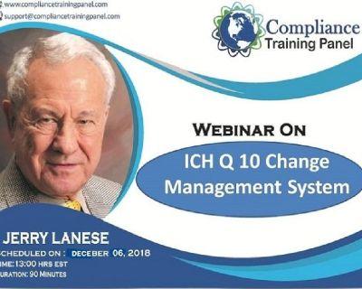 ICH Q 10 Change Management System
