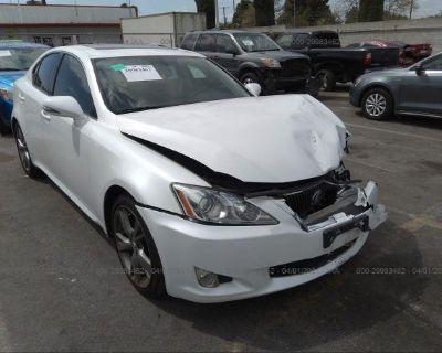Salvage White 2010 Lexus Is 250