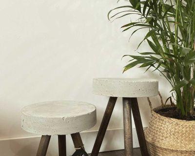 Concrete plant stands/side tables