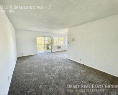 915 N Spaulding Ave #7, West Hollywood, CA 90046 1 Bedroom Apartment
