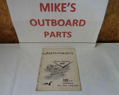 1959 Johnson Parts Catalog 18 Hp Motors @@@check This Out@@@