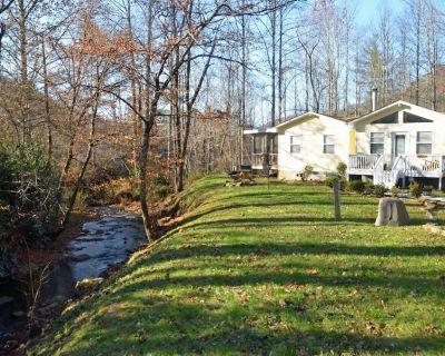 Nanny's Creek Side Cabin - Pet Friendly - 4 person HOT TUB -LOCATION-Sleeps 8 - Alarka