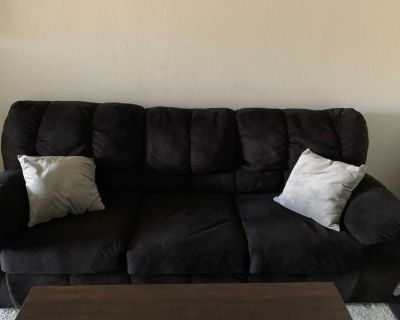 Comfy black couch!