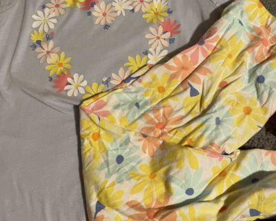 Cat and Jack Capri outfit size 10/12