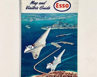 1963 ESSO Road Map: Hampton Roads Area Norfolk Newport