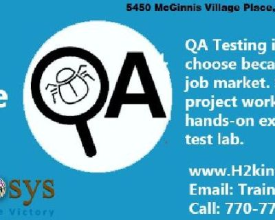 QA Training from H2K Infosys the leading provider of QA Training in the USA