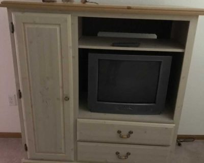 Bedroom tv stand 4 tall, 3 wide, 2 deep good condition