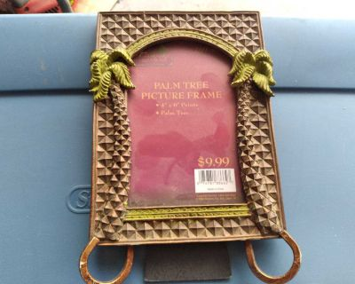 Decorative Palm Tree Themed Picture Frame
