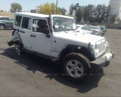 Salvage White 2014 Jeep Wrangler Unlimited