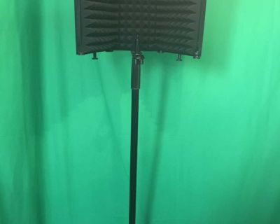 mic stand (with foam booth)