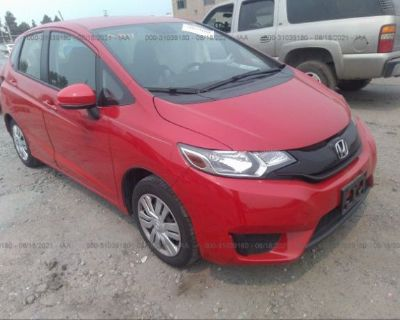 Salvage Red 2016 Honda Fit