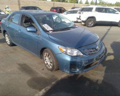 Salvage Light Blue 2013 Toyota Corolla