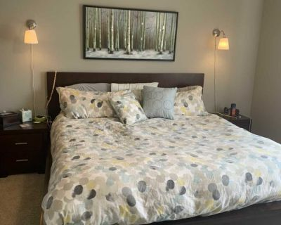 King bed frame and two night stands