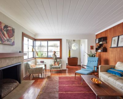Mid-Century Modern Home with Backyard and Design Studio, Alameda, CA