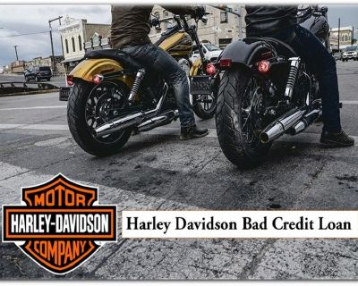 You don't have to have good credit or even bad credit to purchase a Harley