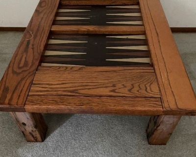 FREE: Desk, Chair, Filing cabinets, Entertainment Center & Backgammon Coffee table