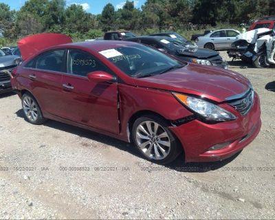 Salvage Red 2013 Hyundai Sonata