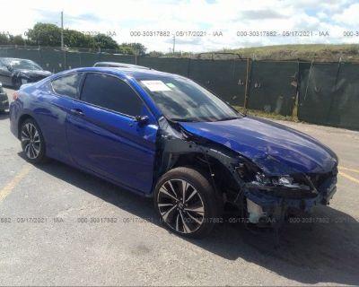Salvage Blue 2016 Honda Accord Coupe