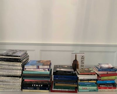 Set of 75 Books- for coffee table, book shelf, design and/or great reads