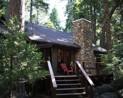 """Secluded """"Hidden Heaven"""" Vintage Cabin on Strawberry Creek, Walk to town - Idyllwild"""