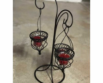 Candles and holder
