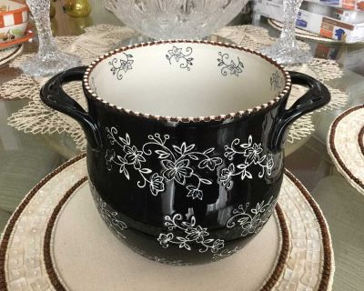 TEMP-TATIONS FLORAL LACE LARGE UTENSIL HOLDER