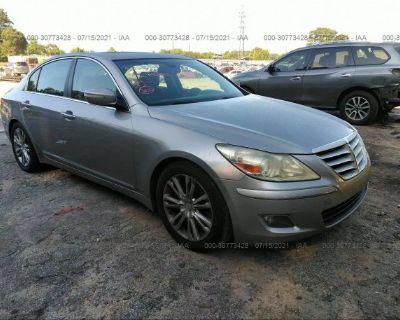 Salvage Silver 2009 Hyundai Genesis