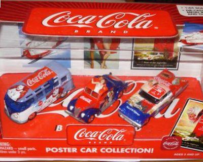 Johnny Lightning Coca-Cola Poster Car w/Bus