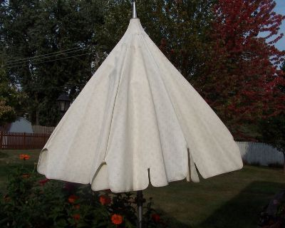 LARGE PATIO UMBRELLA WITH BASE AND STORAGE COVER