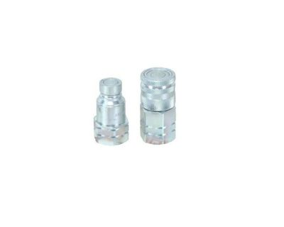 """Stucchi Skid Steer Hydraulic Quick Coupler ISO 16028 Flat Face 1/2"""" NPT"""