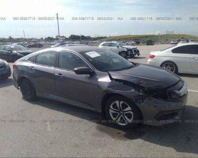 Salvage Gray 2018 Honda Civic Sedan