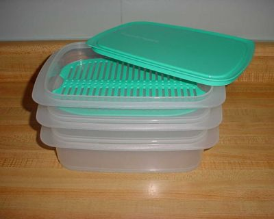 New Design Tupperware Fridge Stackables Deli Cold Luncheon Meat/Cheese Set Complete With Grid & Lid. Keeps Cold Cuts Fresh For Weeks! The...