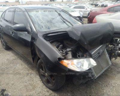 Salvage Black 2007 Hyundai Elantra