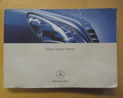 Mercedes Benz S-class Owners Manual - 2003