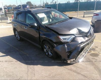 Salvage Gray 2017 Toyota Rav4
