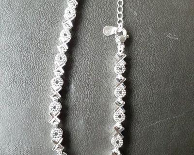 925 Sterling Silver XO Four-leaf clover love Bracelet