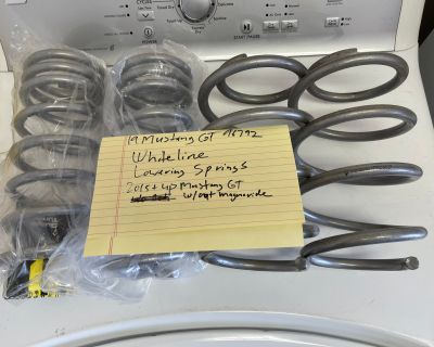 Whiteline Lowering Springs-2015+Mustang GT w/out Magnaride WSK-FRD006