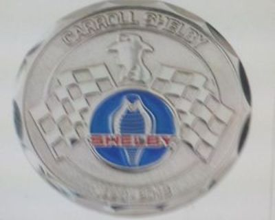 """Carroll Shelby Challenge Coin Super Snake/ Classic Cobra """"ferraris As Is Mine"""""""