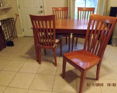 Wood Dining table with 6 chairs $500.