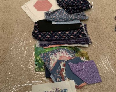 FREE fabric, quilting fabric, misc pieces
