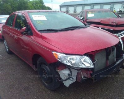 Salvage Red 2009 Toyota Corolla