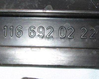 Mercedes W123 W116 Plastic Seat Trim Black Assortment 300d 450 Sel D E 280 Se