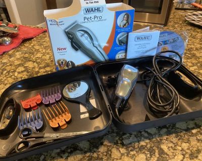 Wall Pet Pro complete dog grooming set (used once)
