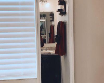Hanging storage mirror