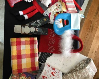 SEE ALL PICS, NICE VARIETY OF SMALLER CHRISTMAS ITEMS.