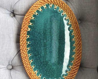 Woven / Porcelain Platter from Thailand
